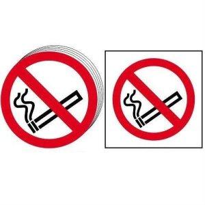 No smoking symbol - Self Adhesive Sticky Sign (100 x 100mm)