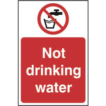 Not Drinking Water Sign - Sign - PVC (200 x 300mm)