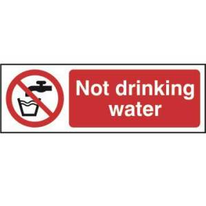 Not drinking water - Sign - PVC (75 x 150mm)