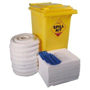 Oil & Fuel Emergency Spill Kits - Blue Bin