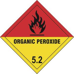 Organic Peroxide 5.2 - Self Adhesive Sticky Sign Diamond (100 x 100mm)
