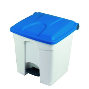 Pedal Bin Container 45L White Base, Coloured Lid 410 x 398 x 600mm
