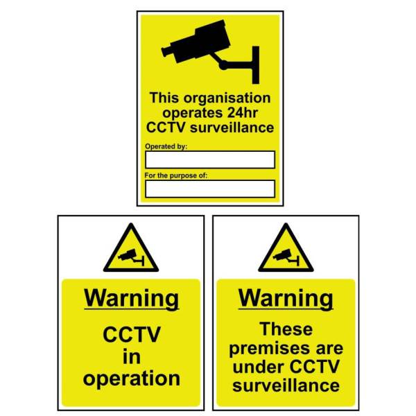 Premises are under CCTV surveillance - Self Adhesive Sign 300 x 400mm