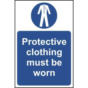 Protective Clothing Must Be Worn Sign - SAV (400 x 600mm)