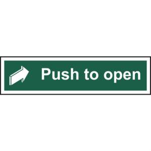 Push to open - Self Adhesive Sticky Sign (300 x 75mm)