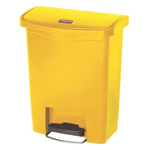 Rubbermaid 30L Step-on Pedal Bin - Yellow