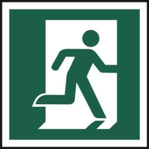 Running man symbol (Right) - Sign - PVC (150 x 150mm)