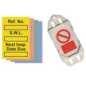 Safe Working Load Mini Tag Kit - (20 Tag Holders, 40 Inserts, 1 Pen)