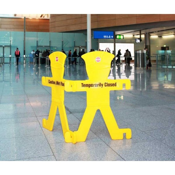 Single Minder barrier Inc fold away stand and 6 signs