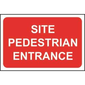Site Pedestrian Entrance Sign