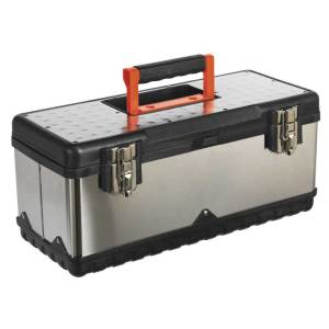 Stainless Steel Toolbox with Tote Tray 505w x 245d x 225h