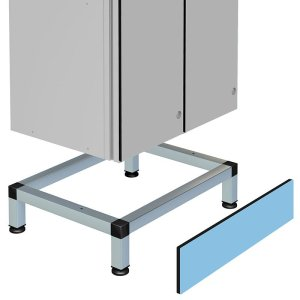 Stand for Nest 2 Aluminium Body Lockers 150h x 300w x 400d includes front plinth
