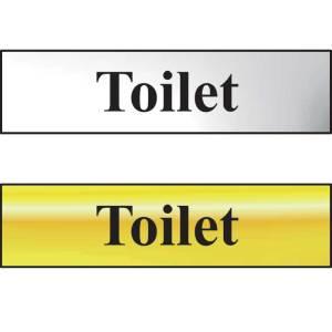 Toilet Sign - Chrome Effect