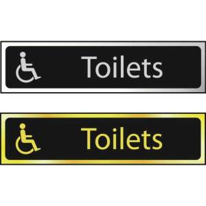 Toilets (Disabled Logo) - Sign POL (200 x 50mm)