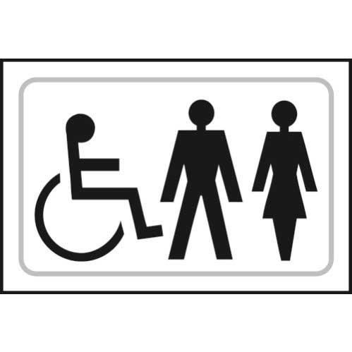 Toilets Symbols Braille Sign