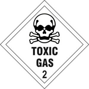 Toxic Gas 2 - Self Adhesive Sticky Sign Diamond (100 x 100mm)