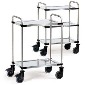Two Tier Modular Stainless Steel Trolley - Shelf Size 1000 x 500mm