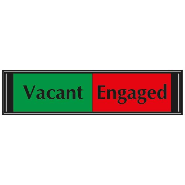 Vacant / Engaged Sliding Sign for Doors 50mm x 200mm