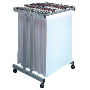 Vistaplan Front Loading Trolley with 20 A0 hangers with handles