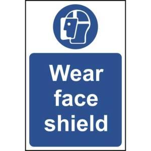 Wear Face Shield Sign - RPVC (400 x 600mm)