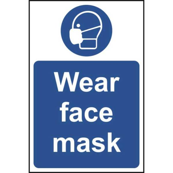 Wear face mask sign - Rigid PVC (200 x 300mm)