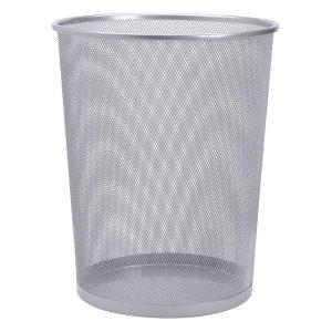 Wire Mesh Waste Bin 18L Silver