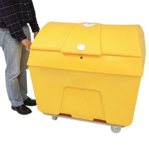 Yellow Clinical Waste Trolley