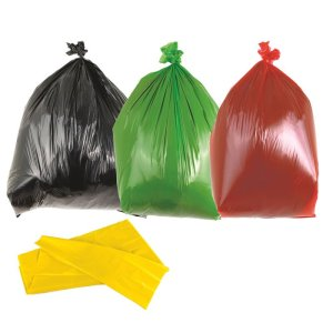 Yellow Medium Duty Bin Bags 90L - Box of 200 Bags