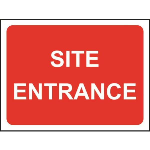 Zintec 1050 x 750mm Site Entrance Road Sign with Frame