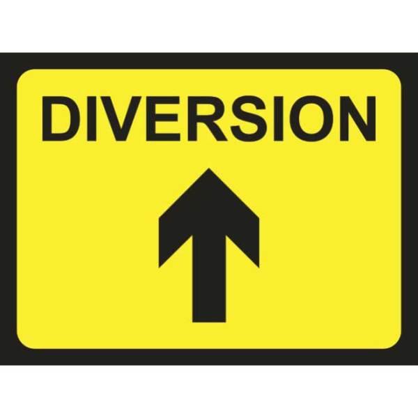 Zintec 600 x 450mm Diversion Arrow Up Road Sign (no frame)