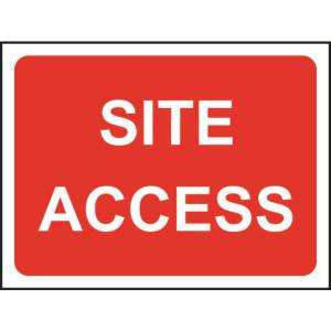 Zintec 600 x 450mm Site Access Road Sign with Frame