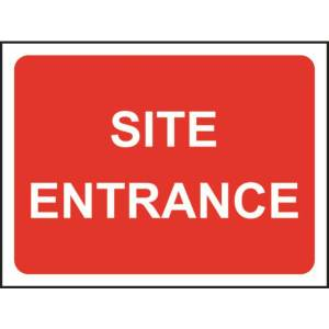 Zintec 600 x 450mm Site Entrance Road Sign (no frame)
