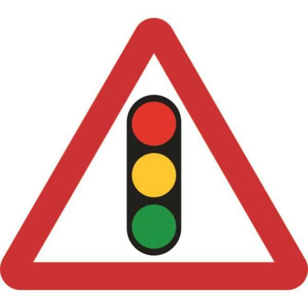 Zintec 600mm Triangular Traffic Lights Road Sign (no frame)