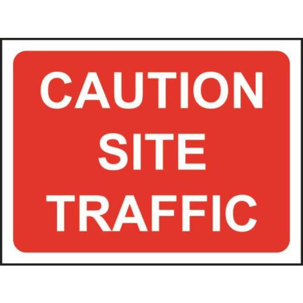 Zintec 600x450mm Caution Site Traffic Road Sign (no frame)