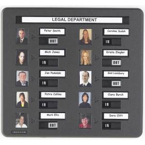 20 Person Photo In / Out Board (photo plus name)