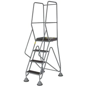 Fort Gamma Easy Glide Mobile Safety Steps with 6 Phenolic Treads - 2500 x 1100 x 1280mm