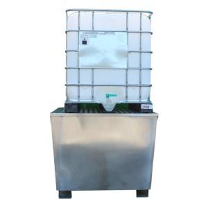 Galvanised Steel Single IBC Bund Pallet