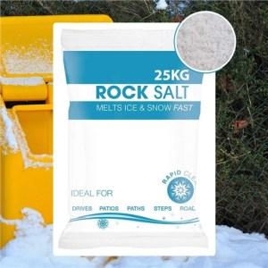 Hadley White De-Icing Rock Salt - 25KG