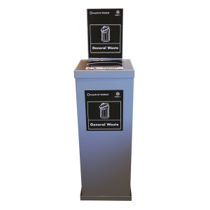 Indoor Recycling Bin System - Clear 160L Double Unit