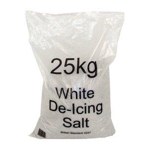 Pallet of 10 x 25kg White Road Salt