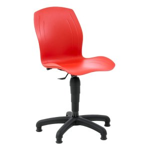 Polypropylene Industrial Swivel Chair with Castors, Mid Lift 450-590 h