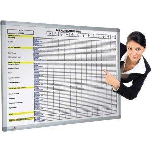 Pre-Printed Magnetic Whiteboard - 2400 x 1200