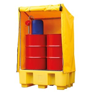 Single IBC Containment Pallet with Cover