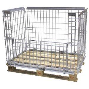 Stackable Mesh Pallet Cages 800kg cap 1050h x 1200w x 1000d