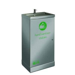 Stainless Steel Hand Sanitiser Station Freestanding with Splashback