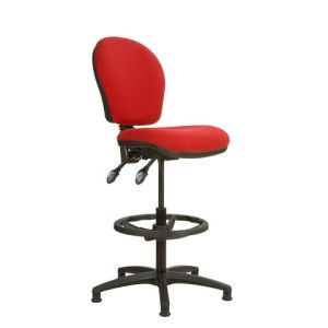 Steelco Ascot AS020D Medium Back Cashier/Draughtsman Chair - Red