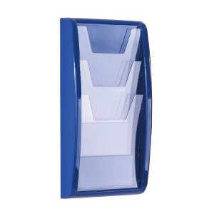 Wall mounted leaflet display unit - 4 x A5 pockets
