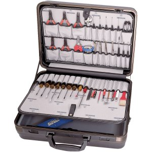 """Bernstein 6100 Service Case """"PC-CONTACT"""" With 65 Tools"""