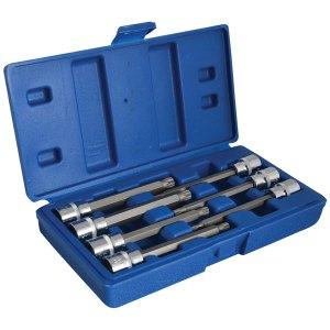 BlueSpot Tools 01512 3/8in Drive Extra Long Spline Socket Bit Set,...
