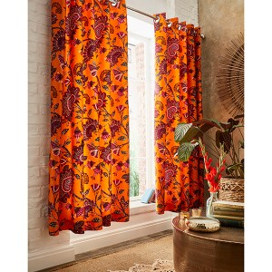 Joe Browns African Floral Eyelet Curtains 66x72 Inch